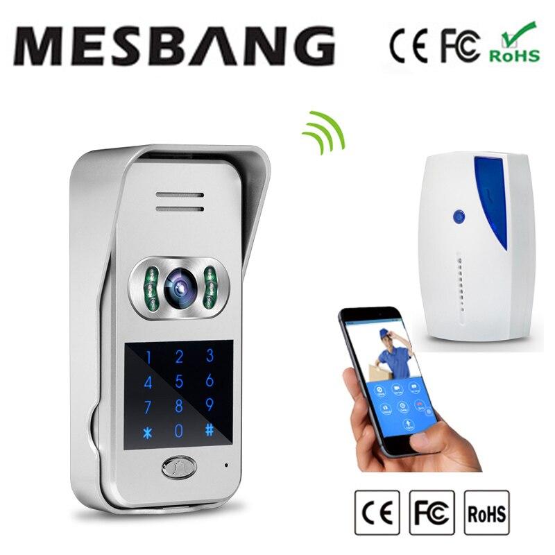2016 New wifi wireless video doorbell intercom with password unlock door 120 degree angel free shipping