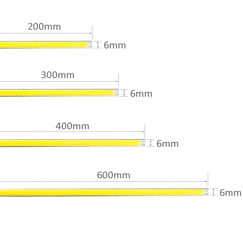 12V COB LED Strip 10pcs 200*6mm 300*6mm 400*6mm 600*6mm 10W 14W 17W 20W outdoor indoor D ...