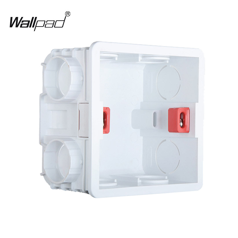 Wallpad 3x3 Single Wall Plate Mounting Box For UK EU Switch Socket, Universal Junction Box For Touch Switch WiFi Switch