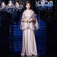 Вышивка продажа Шаль строки 2018 Для женщин элегантные длинные платья вечерние выпускных вечеров для Gratuating Дата церемонии гала вечера платья