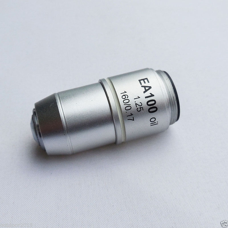 100X Achromatic Objective Lens Standard Biological Microscope Objective Lens DIN160mm  цены