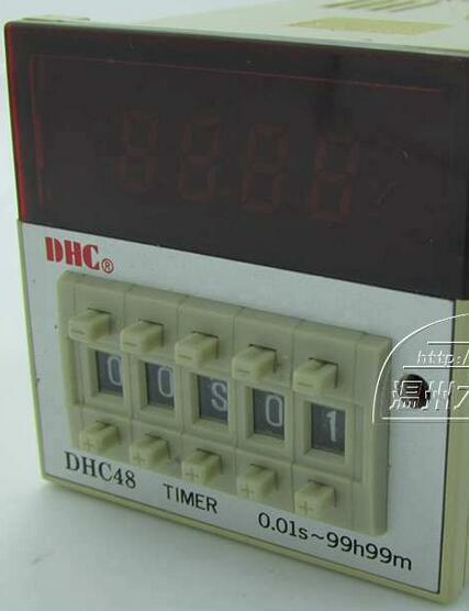 DHC Dahua DHC48 multi-function time relay contact or positive or negative countdown hhs6a correct time countdown intelligence number show time relay bring power failure memory ac220v