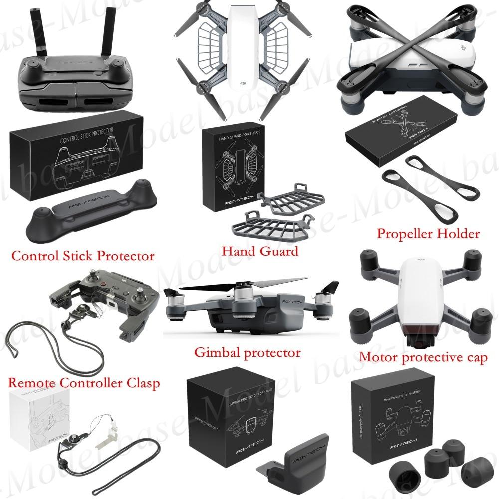 PGYTECH Motor cap+Propeller holder+Remote Controller Clasp+Gimbal protector+Control Stick Protector+Hand Guard For DJI SPARK