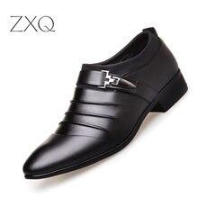 Italian Design Leather Shoes Men Office Formal Shoes Slip On Wedding Flats Men Business Shoe Pointed Toe Black цены онлайн