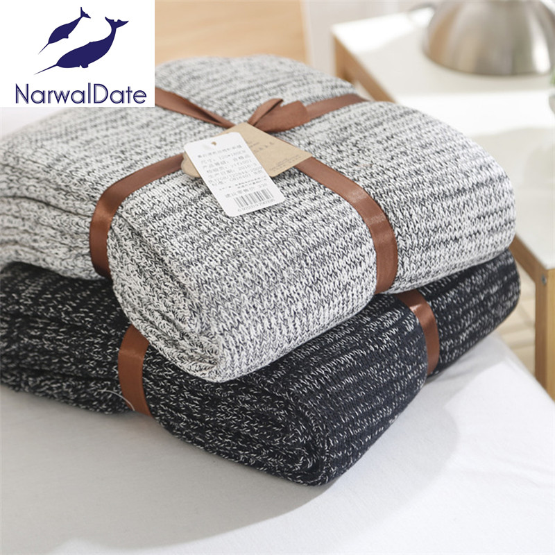 Knitted Blankets Spring Sofa Cover Bed Cover Throw Soft ...