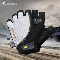 Santic Men Cycling Short Gloves Half Finger MTB Cool Fashion Breathable Anti Pilling Anti Static Sun