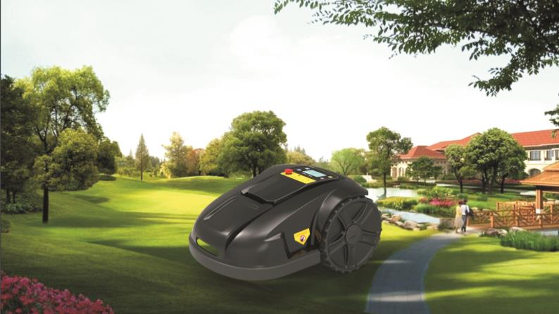 Newest WIFI control,waterproof robot lawn mover with mowing schedule,intelligent cutting height on LCD display