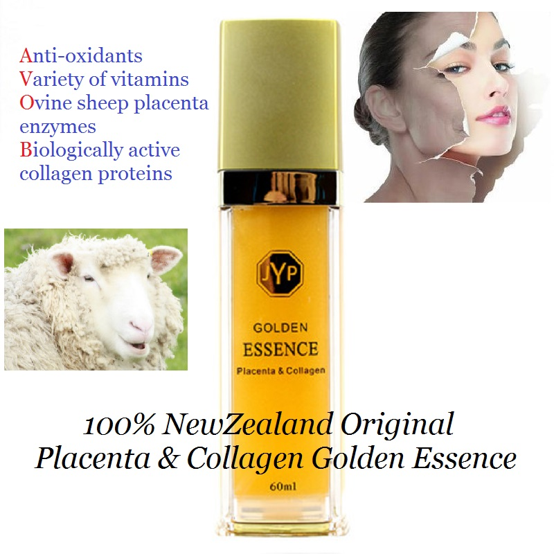 100%NewZealand Sheep Placenta Collagen Golden Essence Serum Anti aging Anti wrinkle Face cream Increase skin natural elasticity argireline matrixyl 3000 peptide cream hyaluronic acid ha wrinkle collagen firm anti aging skin care equipment free shipping