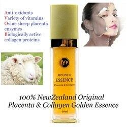 100%NewZealand Sheep Placenta Collagen Golden Essence Serum Anti aging Anti wrinkle Face cream Increase skin natural elasticity