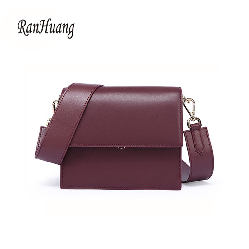 RanHuang Fashion Women Genuine Leather Shoulder Bags High Quality Cow Leather Messenger Bags Women s Small