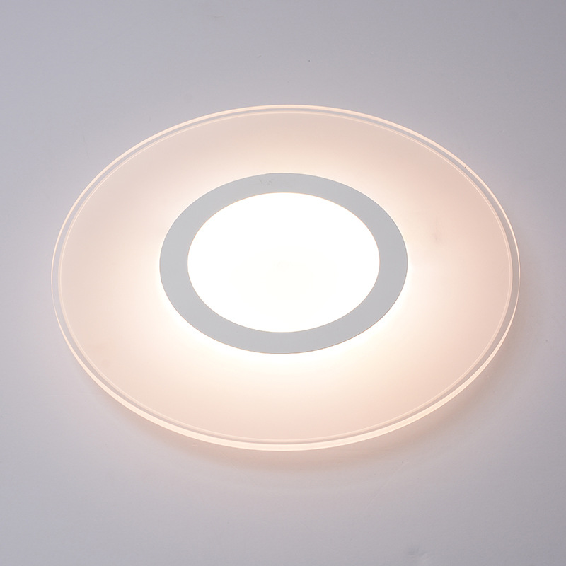 Simple Round Acrylic Led Wall Lamp For Living Room Bedroom Aisle Corridor Dia 12/20/30cm Porch Light 80-265v <font><b>1342</b></font> image