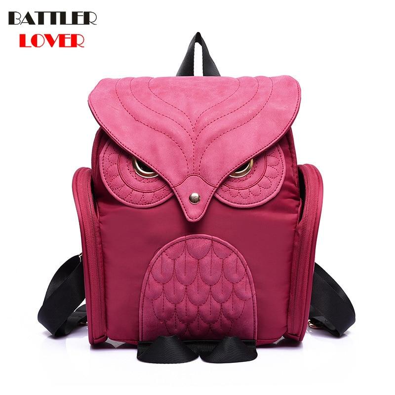 Fashion Cute Owl Backpack Women Cartoon School Kanken Bags For Teenagers Girls Leather Women Backpack Brands Mochila Sac A Dos