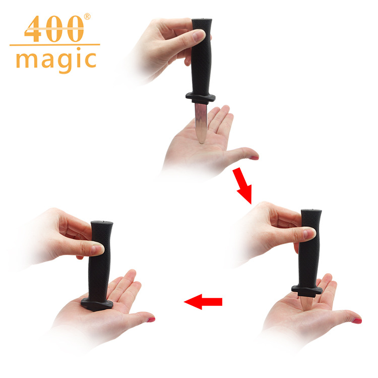 Fake telescopic knife Magic props Child adult whole man fake knife wholesale Whole person funny toy gift image