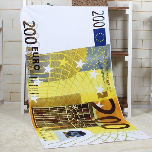70*140 cm imprimé microfibre Euro bain serviette de plage pour adultes serviette ronde drapeau britannique américain serviette de plage livraison gratuite