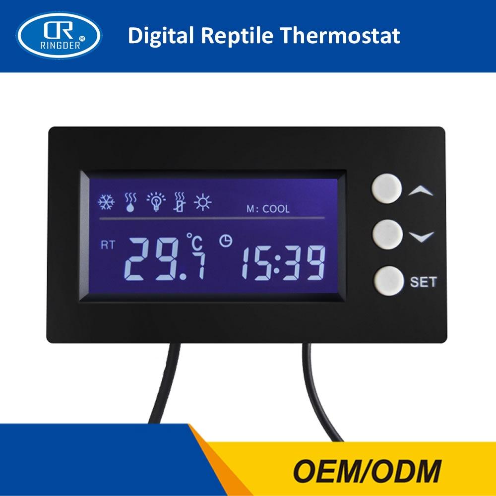 RINGDER TC-100 0-50C ON OFF Digital Reptile Thermostat Timer Terrarium Regulator Pet Temperature Controller Gauge Instrument цены