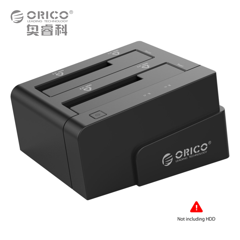 2.5 3.5 Inch USB 3.0 to SATA Hard Drive Docking Station/Duplicator Support MAX 8TB with 12V4A Power Adapter (ORICO 6628US3-C)
