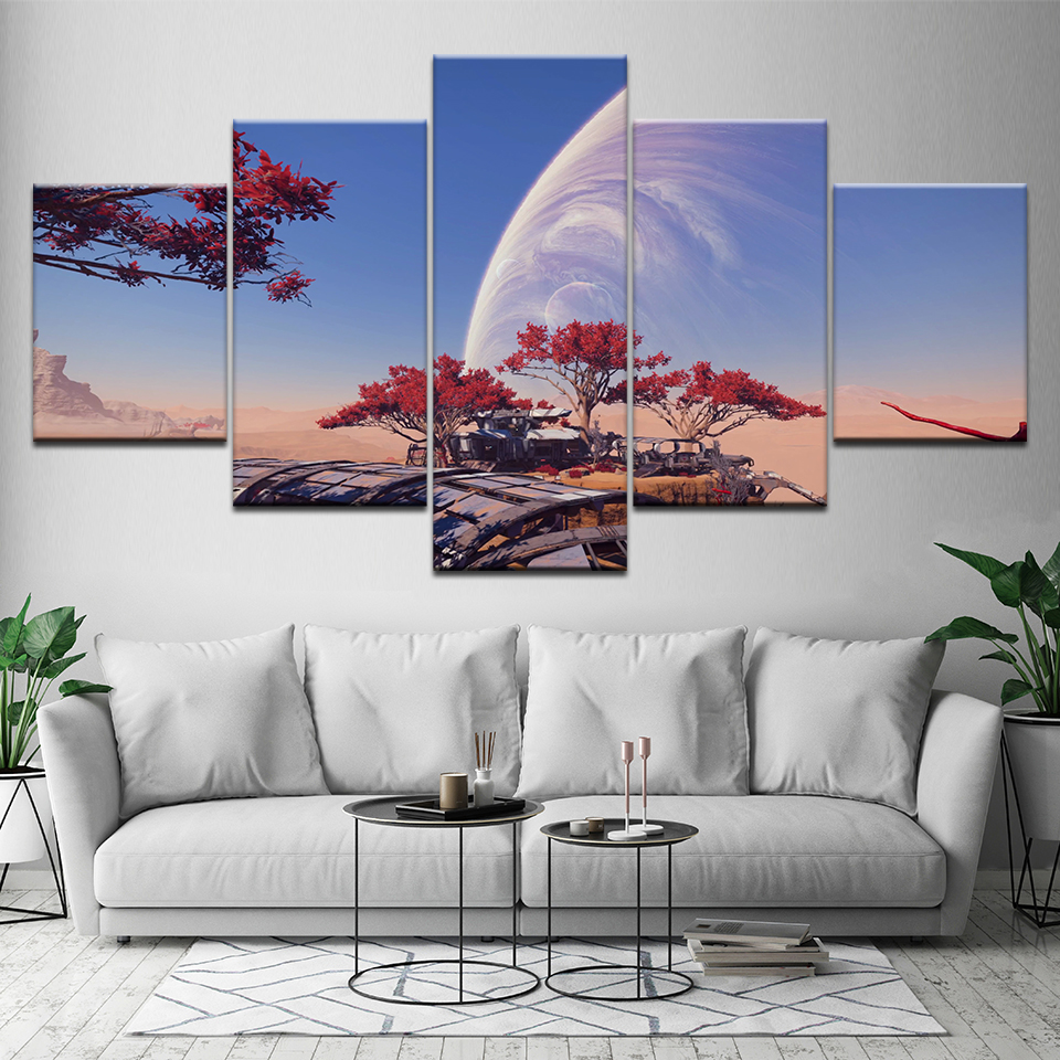 HD Printed 5 piece canvas art mass effect andromeda game picture painting wall Picture Living room bedroom decor print poster image