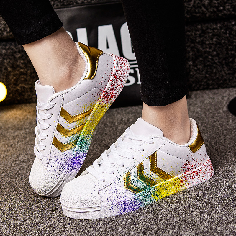 Woman Flat Casual Shoes Designer Women Trainers Breathable Runs Chaussure Lace-up Stars Woman Shoes Classic White Zapatos Mujer 2016 hot low top wrinkled skin cockles trainers kanye west chaussure flats lace up mens shoes zapatos mujer casual shoes