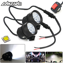 40W Motorcycle LED Outdoor External High Beam Spot Lights 6500K Head Lamp Universal for Honda Yamaha Cruiser Scooter ATV Marine icoco new motorcycle led headlight high low beam 40w 6500k bright motorbike head lamp for victory 2010 2016 for cross country