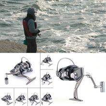 Metal Fishing Reel Gapless 13 Spinning 5.2:1 Spool DE1000-7000 Durable Knob drop shipping