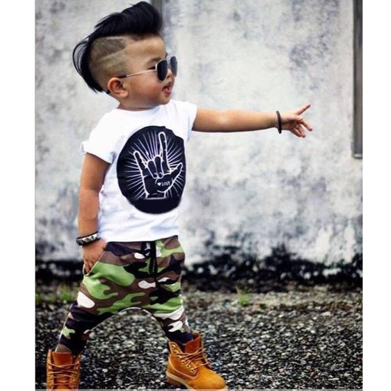 Infant Clothing Set Summer Baby Kids Fashion Newborn Baby Boy Clothes Cartoon Short Sleeve T-Shirt+Camouflage Pants 2pcs baby boy clothing ins baby girl long sleeved top t shirt pants cartoon penguin sheep newborn infant toddle clothes sets