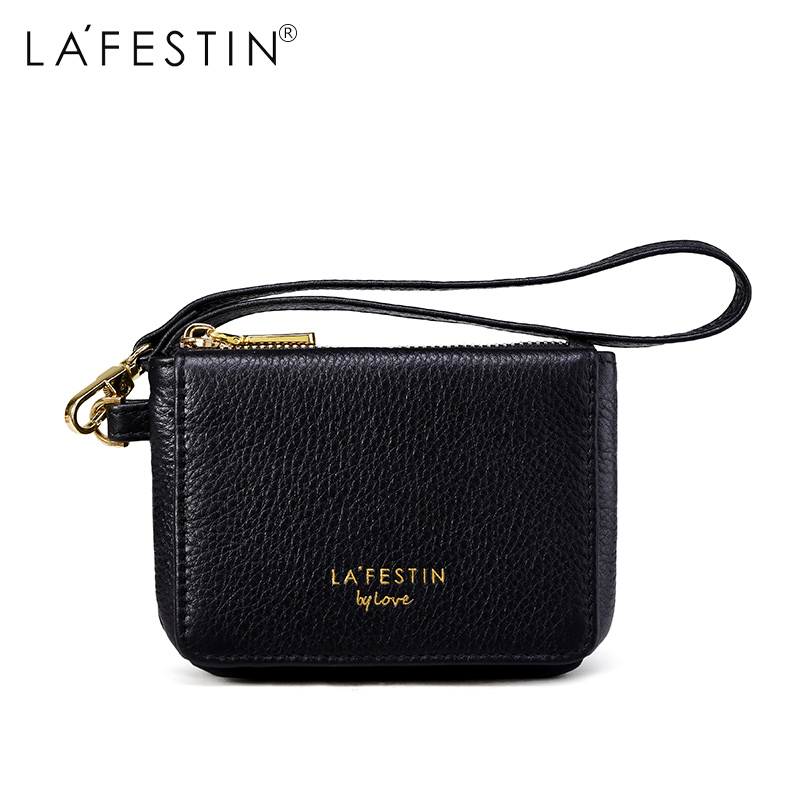LAFESTIN Wallet Genuine Leather Fashion Coin Purse Money Bag Credit Card Holder Brand Female Clutch Bag Women Wallets fashion genuine leather women wallets red brand designer plaid long clutch women s purse female money credit card holders party