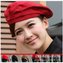2017 Polyester Real New Cotton Women Chef Uniform Fashion Hotel Hat Restaurant Waiter Working Cap Beret