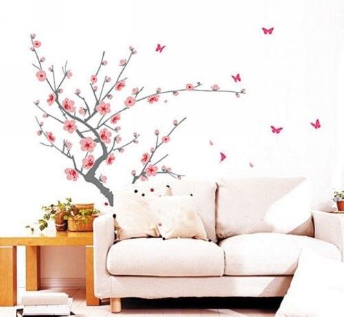 Big Cherry Blossom Tree Sakura Butterfly Butterflies Wall