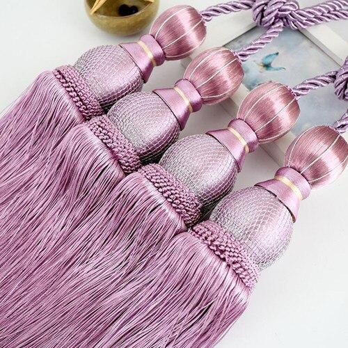 1 пара роскошный высококлассный Магнитный кристаллик для занавесок Европейский двойной шар с перекрестной шнуровкой и украшениями круглой формы аксессуары-подвески связующая лента задняя N119 - Цвет: C