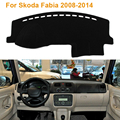2016 Car Styling Dashboard Protective Mat Shade Cushion Photophobism Pad Interior Carpet For Skoda Fabia 2008-2014