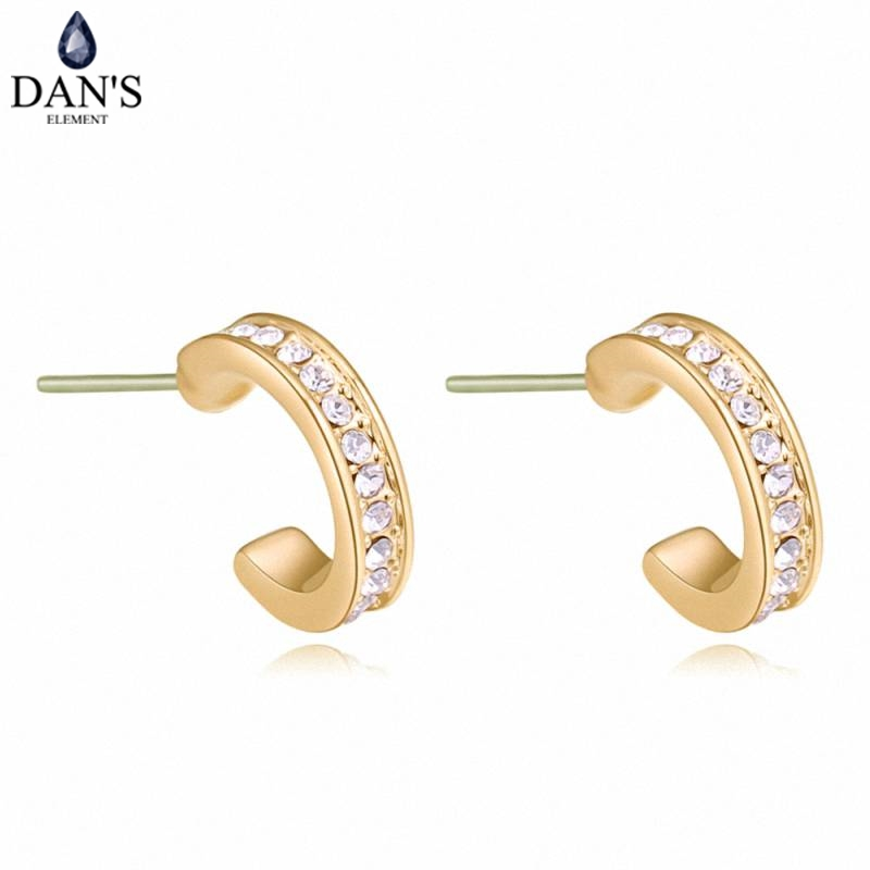 DANS 3 Colors Real Austrian crystals Stud earrings for women Earrings s New Sale Hot Round 130401