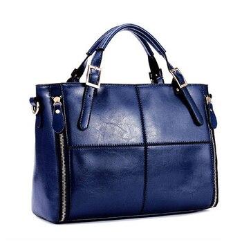 HOT Item Women Handbag PU Leather bags women messenger bag/ Splice grafting Vintage women bag Shoulder Tote Bags