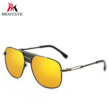 Meguste 2017 outsized body males's sun shades gold mirror lens model designer.luxurious out of doors oculos de sol masculino uv400.