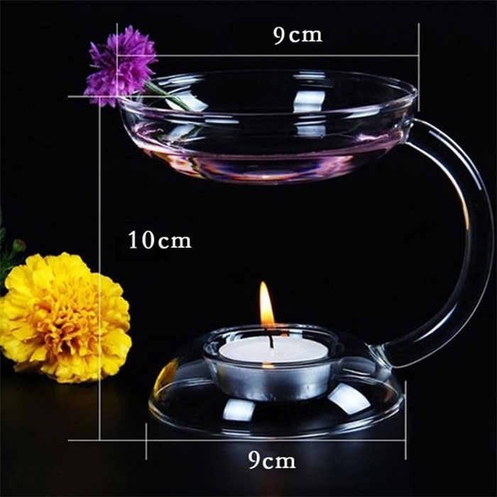 Nordic kryształ elegancki świecznik szklany świecznik aromat kominek na olejki na wesele kolacja dekoracji, nowoczesne klosz, abażury do lamp