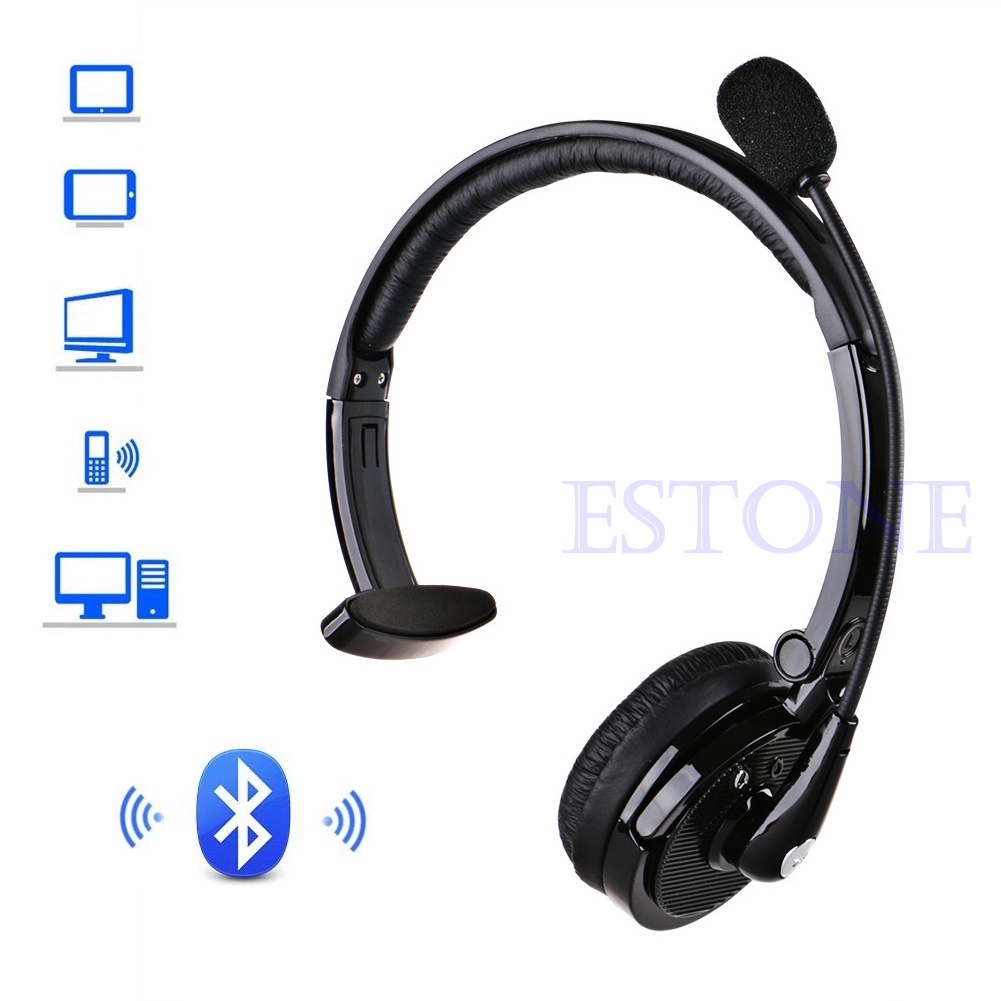 New Noise-Canceling BH-M10B Bluetooth Over Head Boom Mic Headset For Trucker Drivers
