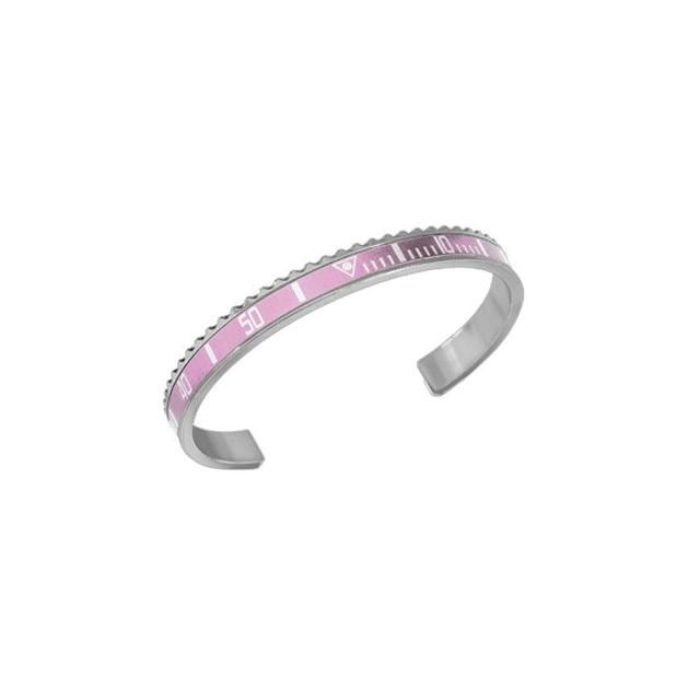 1pcs fashion christmas gift 361L steel pink cuff bangle bracelet speedometer bracelet bangle men women B0085
