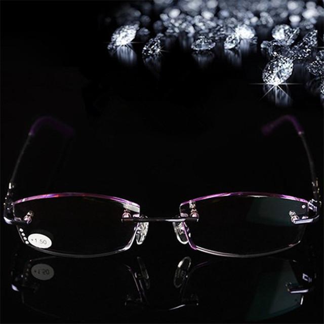 Nueva Caliente de Alta Calidad de la Mujer Cómoda Sin Marco Lentes de Colores Gafas de Lectura del Metal + 1.0 + 1.5 + 2.0 + 2.5 + 3.0 + 3.5 + 4.0 Vasos Ancianos