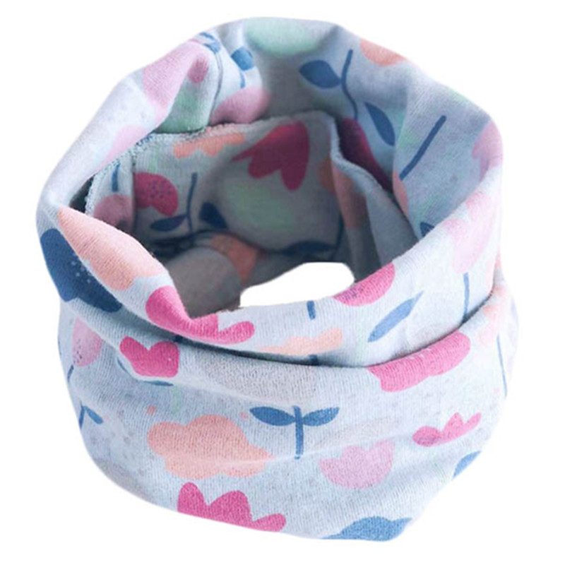 100% Cotton Warm Baby Child Scarf Spring Winter Children Scarves Baby Neck Collars Boys Girls O Ring Scarf Lovely Kids Collars