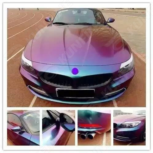 Car Styling Wrap Chameleon Car Vinyl film Body Sticker Car Wrap With Air Free Bubble For Vehiche Motorcycle1.52*20M /Roll