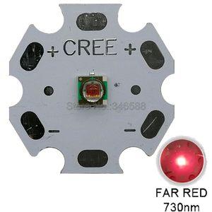 Image 1 - 10 pièces 1W 3W Cree XLamp XPE XP E rouge lointain 730nm haute puissance LED perles 1.9 2.4V 350 1000mA plante pousser LED émetteur ampoule lampe