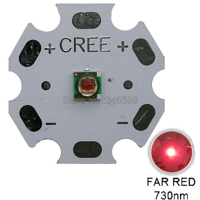 10pcs 1W 3W CREE XLamp XPE XP E Far สีแดง 730nm LED ลูกปัด 1.9 2.4V 350 1000mA Plant Grow LED Emitter หลอดไฟ