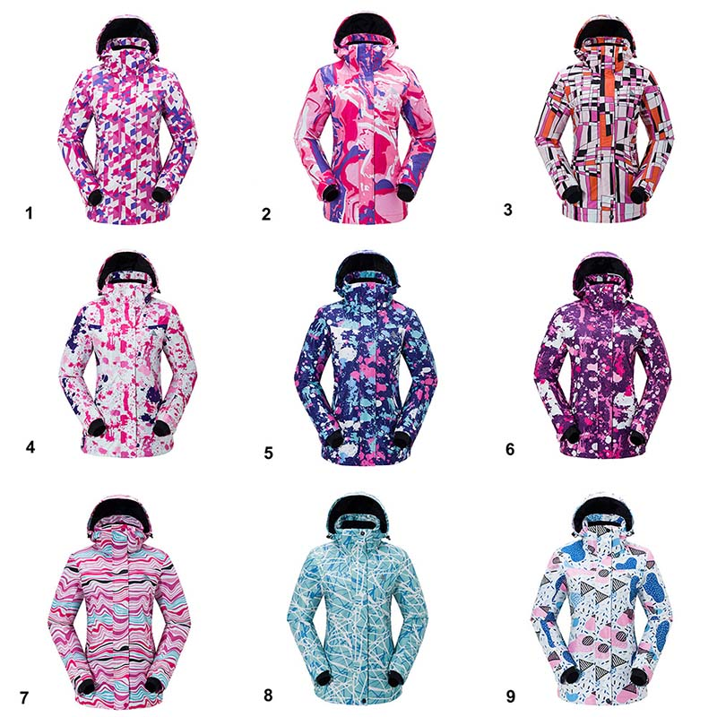 6902fed347 Women Fleece Ski Jacket Winter Snowboarding Clothing Windproof Snow Clothes  Outdoor Thermal Jacket Women Skiing Snowboard Suit-in Skiing Jackets from  Sports ...