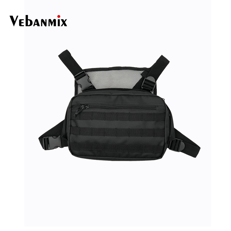 Hot Black Men Chest Bag Adjustable Oxford Tactical Chest Rig Hip Hop Streetwear Functional Shoulder Bag Waist Packs Kanye WestHot Black Men Chest Bag Adjustable Oxford Tactical Chest Rig Hip Hop Streetwear Functional Shoulder Bag Waist Packs Kanye West