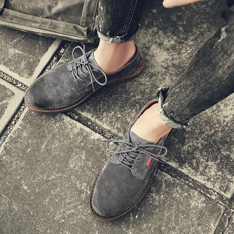 Up Estilo 2019 Sapatos Sapatas Homens Preguiçosos Design Casual De Ao Dos L5 Novos Ar Livre Genuíno gray Das khaki Lace Moda Black Apartamentos Sapatilhas Couro rFHaq