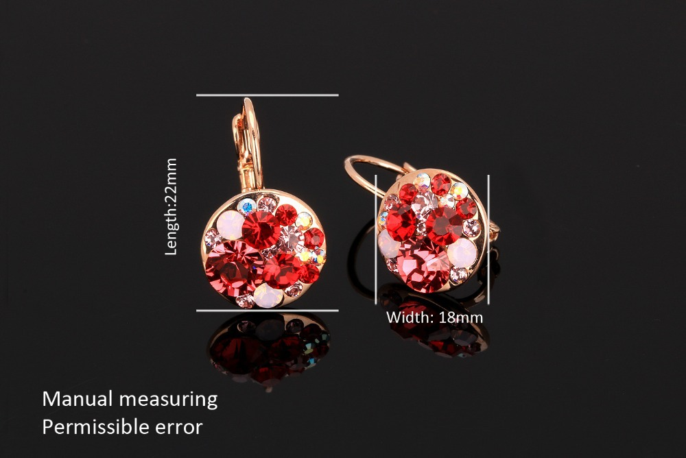 Exaggerated High Quality Vintage Earrings For Women Wholesale Rose