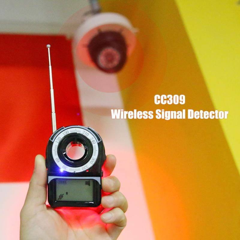 CC309 Wireless Signal Bug Detector Anti-Spy Bug Detector Privacy Protector GPS Finder Tracker Protect Security Camera Detector