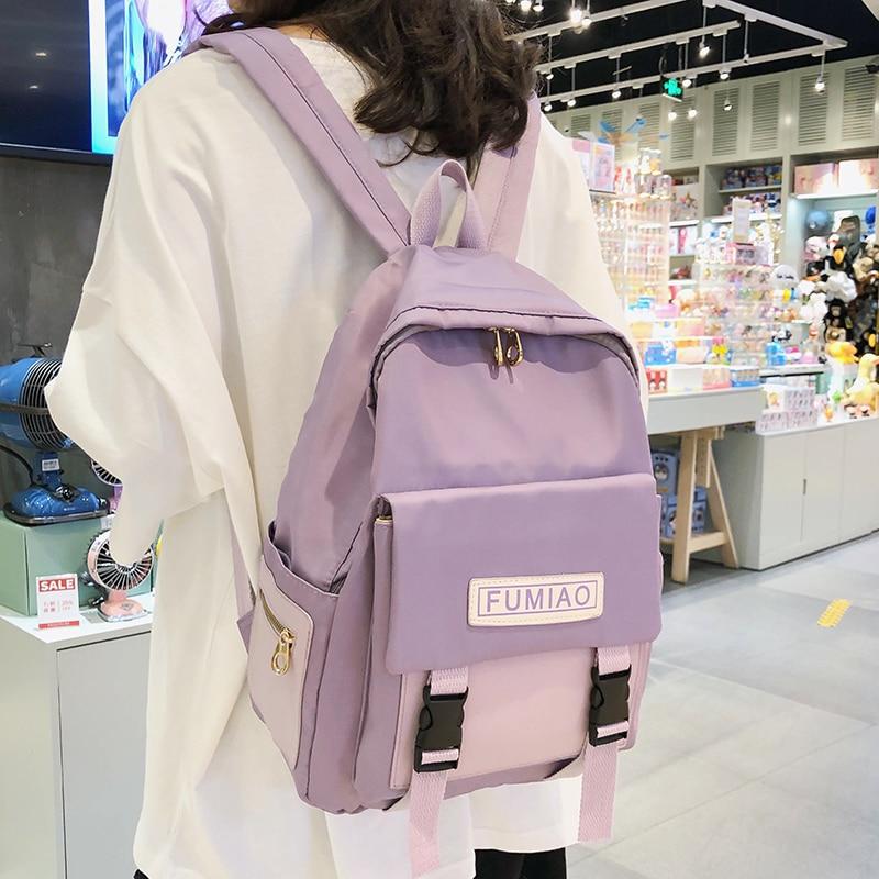 Милый водонепроницаемый рюкзак с пряжкой, женские модные школьные сумки для девочек подростков, нейлоновый рюкзак Harajuku, женская сумка, Женская Роскошная Новая|Рюкзаки| | АлиЭкспресс