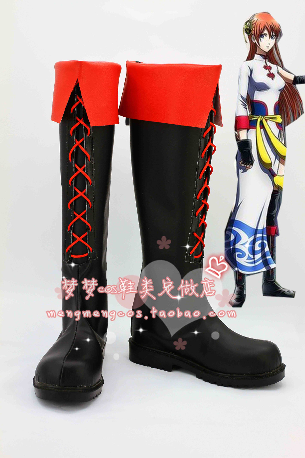 Silver Soul Gintama Kagura Cosplay Shoes Anime Party Boots Tailor-Made прикольные футболки