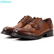 2019 New formal shoes men genuine leather Male Dress Shoes Wedding Office Party Oxford Shoe luxury designer shoe