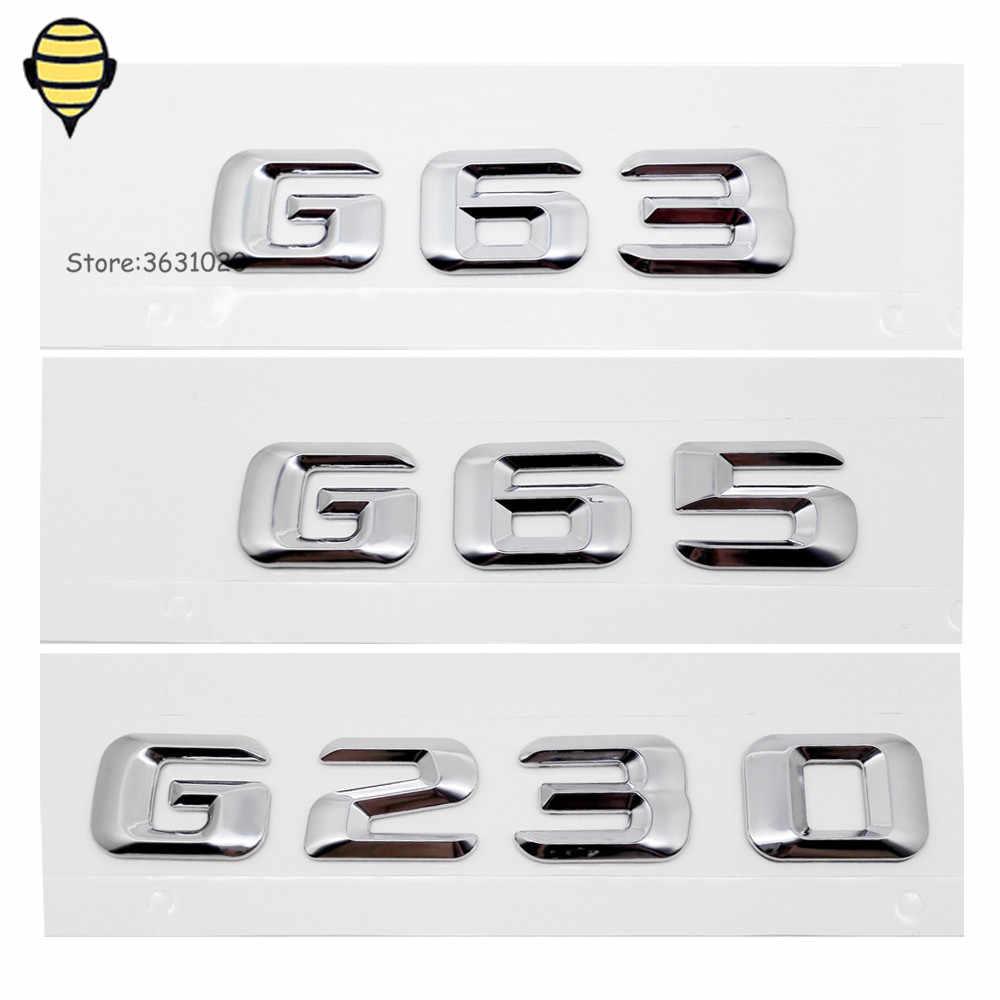 Accessoires de voiture | Autocollant arrière en métal, Badge d'emblème de voiture pour G Class G63 G65 G230 SLK CLS W124 W203 W245 GT